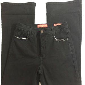 NYDJ Black Embellished jeans Size 6